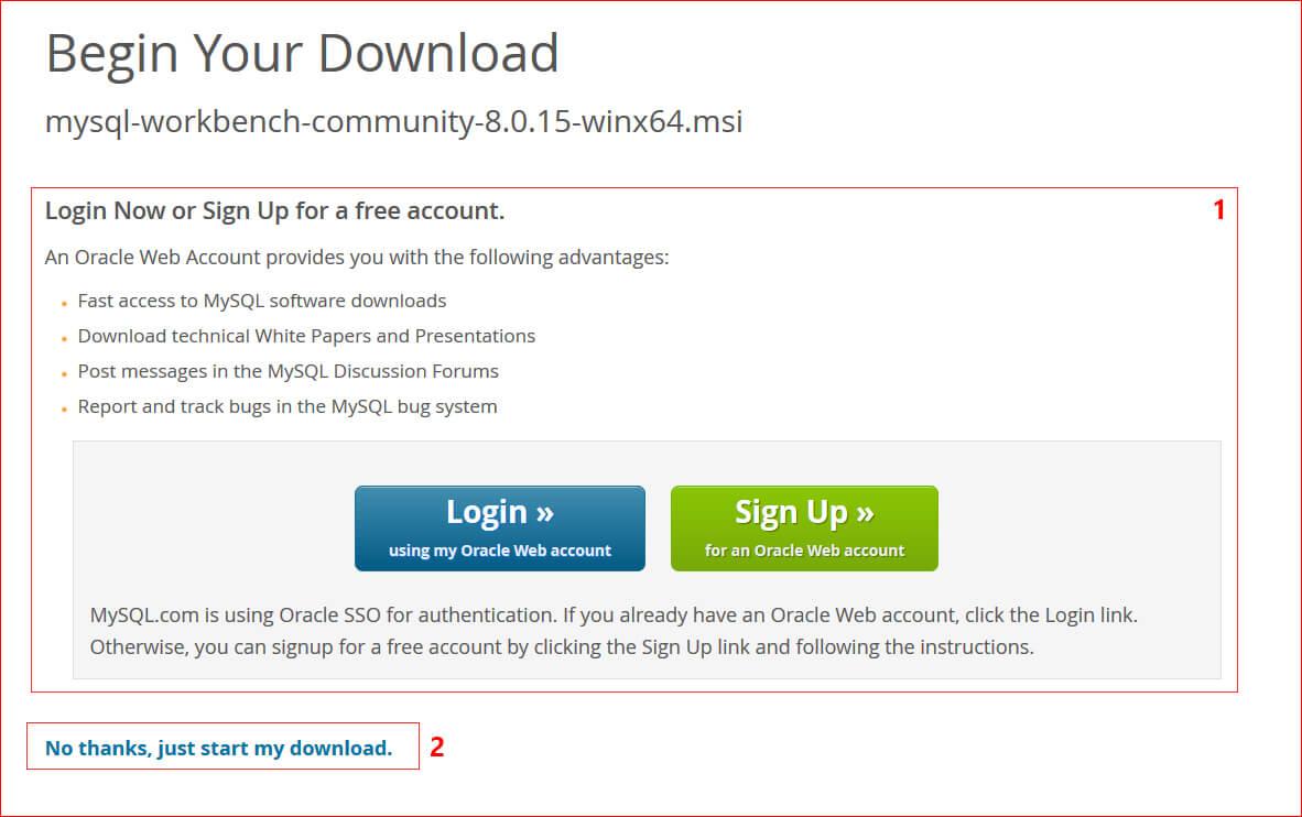 Oracle Login zum Download