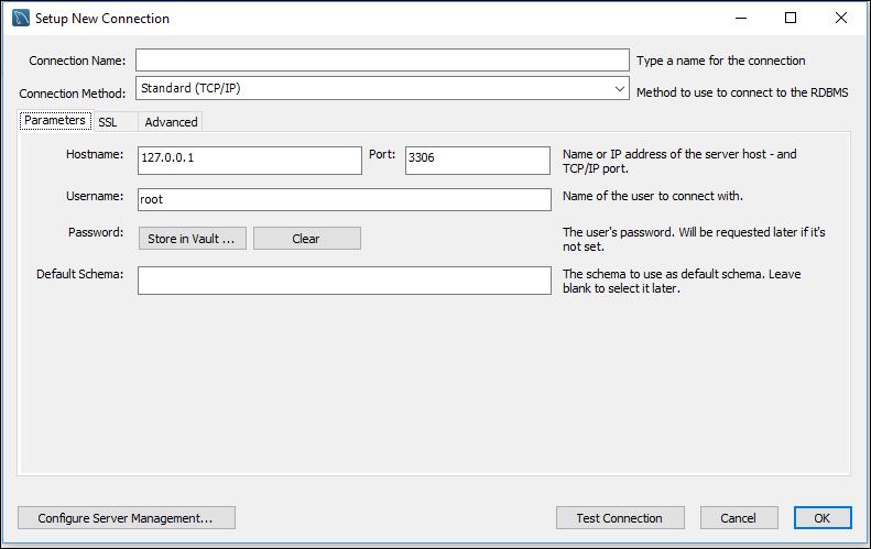 MySQL Workbench CE - Neue Verbindung einrichten
