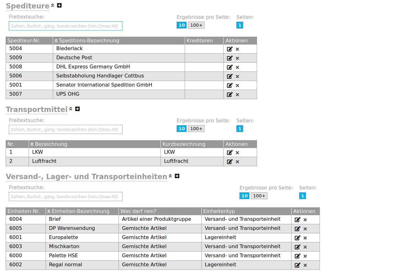flexERP Warenwirtschaftssystem Lagermanagement - flexERP Lagerverwaltung